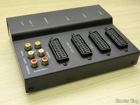 Switch SCART RGB de metal com 3 entradas e 1 saída
