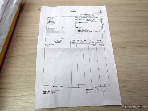 Invoice in the package with the Framemeister XRGB Mini