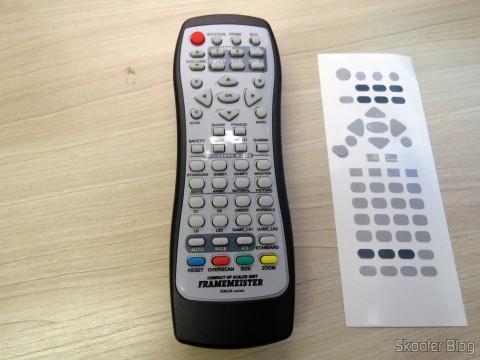 Controle Remoto do Framemeister XRGB Mini já adesivado