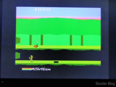 Pitfall II no Atari 2600 via Framemeister, inicialmente há alguns artefatos