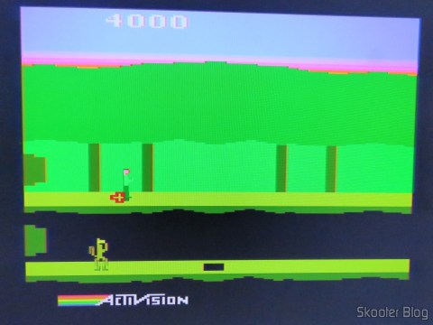Pitfall II no Atari 2600 via Framemeister, without artifacts after resynchronize