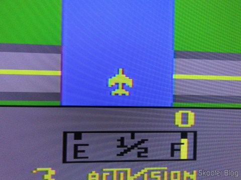 Detalhe do River Raid no Atari 2600 via Framemeister