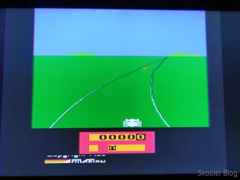 Enduro no Atari 2600 via Framemeister