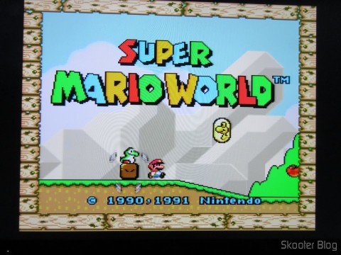 Super Mario World no Super Nintendo via Framemeister XRGB Mini