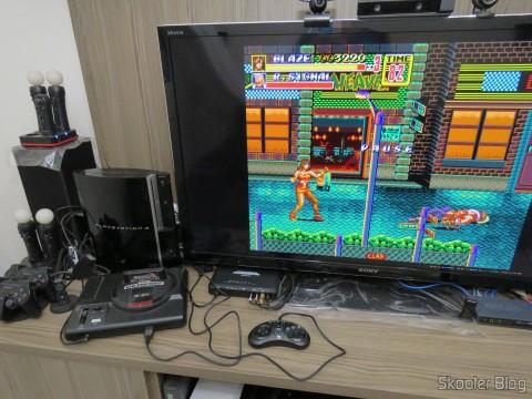 Streets of Rage no Sega Genesis via Framemeister XRGB Mini