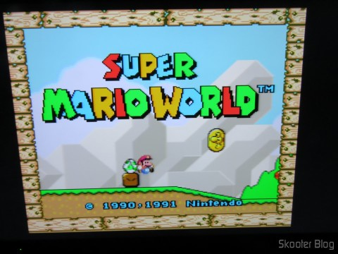 Imagem do Super Mario World através do Cabo SCART RGB para Super Nintendo (SNES) NTSC / PAL-M com CSYNC