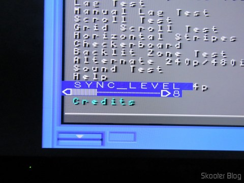 Image of 240p test suite via RGB SCART Cable for Super Nintendo (SNES) NTSC / PAL-M with CSYNC