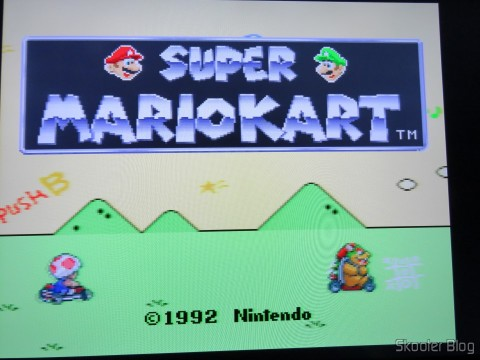 Image of Super Mario Kart through the RGB SCART Cable for Super Nintendo (SNES) NTSC / PAL-M with CSYNC