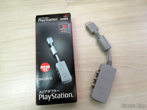 Sony Playstation AV Adapter SCPH-1160 and its packaging