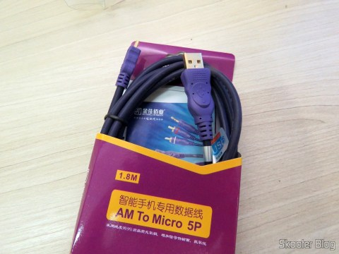 Load cable and Micro USB data to male USB Millionwell 01.0368 on its packaging