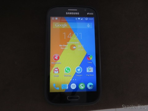 Samsung Galaxy Grand Duos rodando o CyanogenMod 12 (Android 5.0.2 - Lollipop)