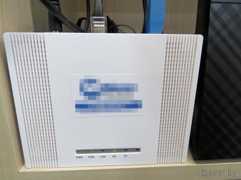 Transceiver de fibra óptica, esse não precisa de proteção