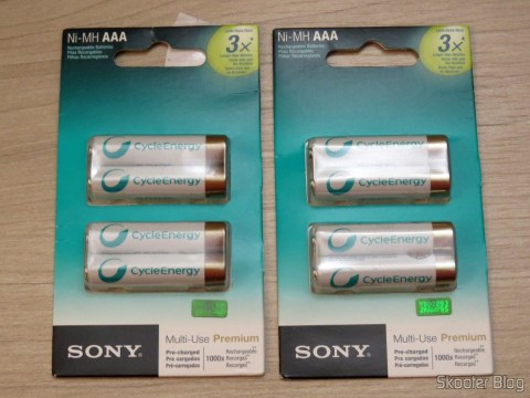 Rechargeable batteries Sony Cycle Energy AAA