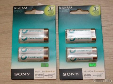 Rechargeable batteries Sony Cycle Energy AAA
