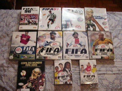 Fifa 96, 97, 98, Copa do Mundo 98, 99, 2000, 2001, 2002, World Cup 2002, 2003 and 2004 (PC)