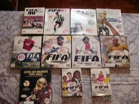 Fifa 96, 97, 98, Copa do Mundo 98, 99, 2000, 2001, 2002, World Cup 2002, 2003 and 2004 (PC)