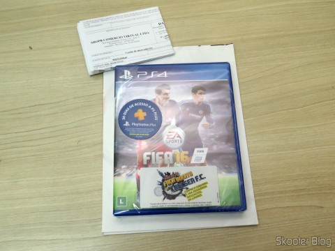Fifa 16 (PS4), still sealed, Poster and invoice