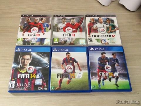 Fifa 10, 11, e 12 (PS3) e Fifa 14, 15, and 16 (PS4)