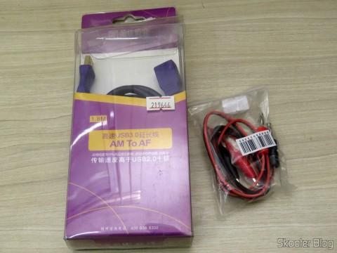 Extensor USB 3.0 Millionwell e Cabo para Multímetro com Plug Banana e Garra Jacaré