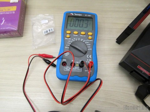 """Cable Multimeter with Plug and Claw Banana Alligator in Digital Multimeter Minipa ET-997 with 3.0 """"LCD,"""