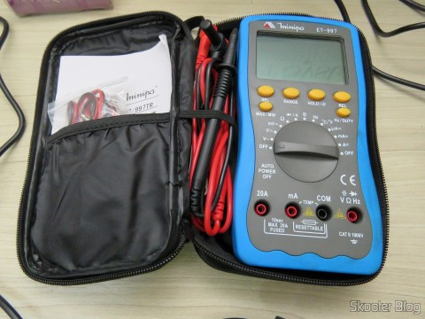 """Cable Multimeter with Plug Banana and Claw saved Alligator in Digital Multimeter stock Minipa ET-997 with 3.0 """"LCD"""