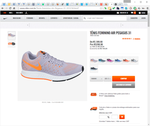 Female tennis Nike Air Pegasus 31 na Nike Store