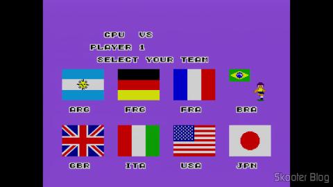 As seleções no Super Futebol - Master System