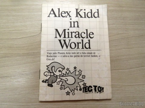 Manual do Alex Kidd in Miracle World