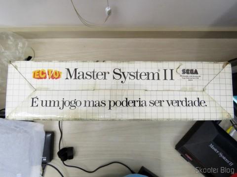 Parte inferior da Caixa do Master System II da Tec Toy - Promoção Jogos de Verão