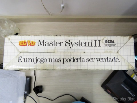 Parte inferior da Caixa do Master System II da Tec Toy - Promotion Summer Games