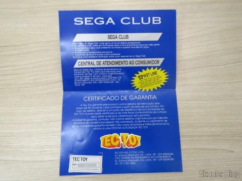 Brochure Sega Club and Certificate of Genesis III Guarantee
