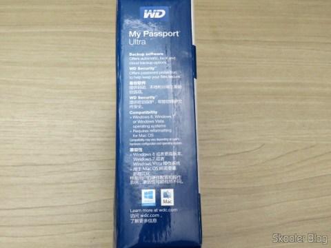 HD Externo Portátil WD My Passport Ultra 2TB (WDBBKD0020BBK-NESN), em sua embalagem