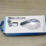 Cabo Magnético USB macho para Micro USB macho Universal Fonemax para Dados e Carga com 22,5 cm, em sua embalagem