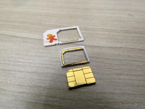 Meu Vivo Chip já cortado para Nano SIM
