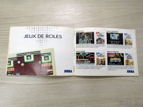French catalog Master System Games