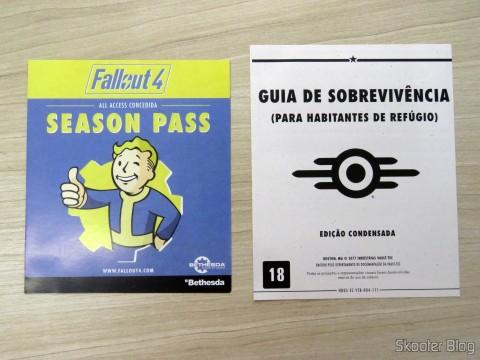 Folhetos que acompanham o Fallout 4 (PS4)