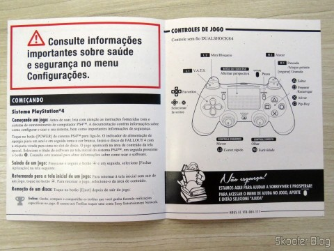 Instruction booklet of Fallout 4 (PS4)