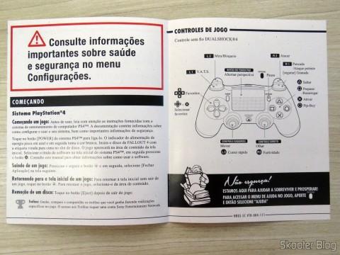 Folheto de instruções do Fallout 4 (PS4)