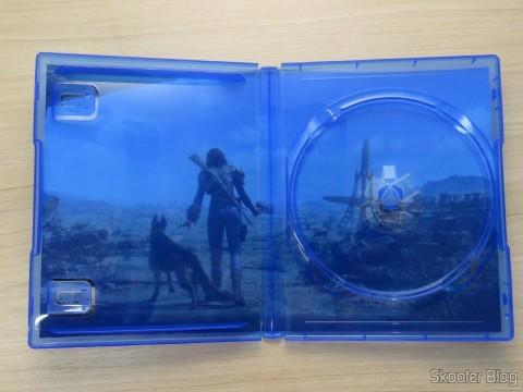 Arte no berço da capa do Fallout 4 (PS4)