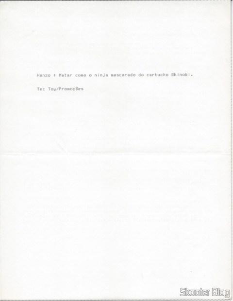 Dicas Tec Toy: Alex Kidd in Shinobi World - Master System - Página 2