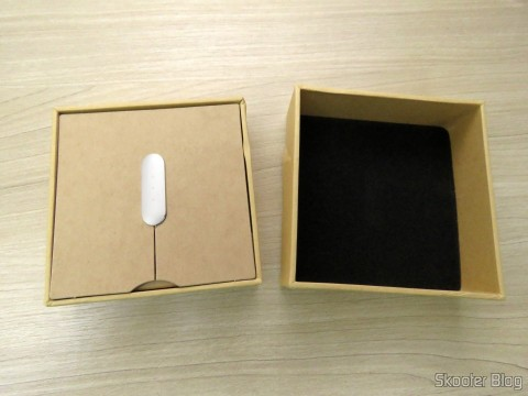Smart bracelet Xiaomi Mi Band 1S, on its packaging