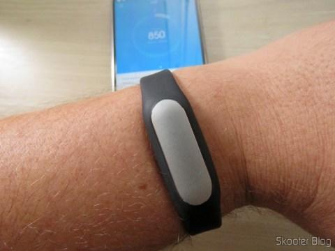 Smart bracelet Xiaomi Mi Band 1S on my wrist