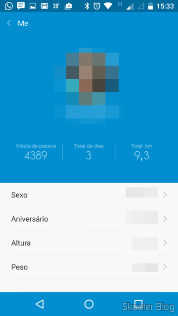 Configuring the profile in Mi Fit