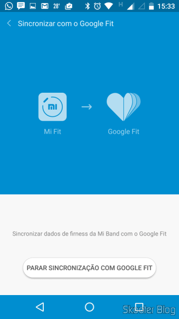 The Mi Fit can be synced with Google Fit