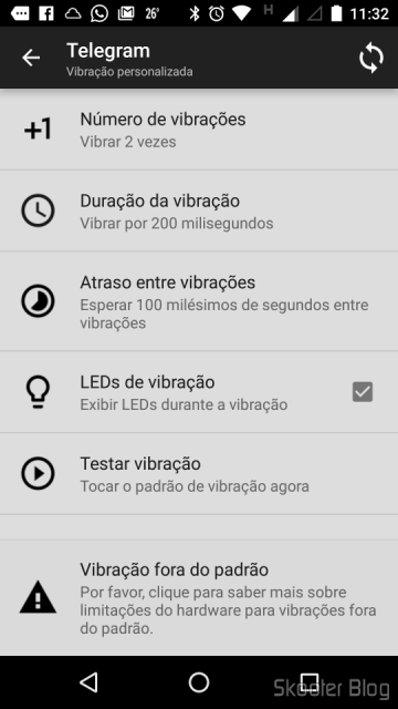 Customized notifications in Mi Band Tools