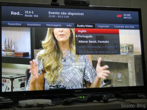 You can select audio and subtitles of open channels with the TV Module Open Sky HDTV SIM25 (S-IM25-700)