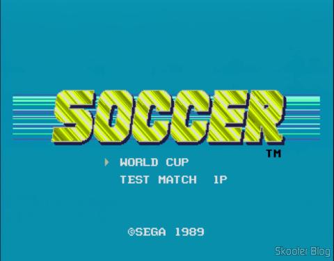 A primeira versão do jogo era apenas Soccer nas Américas