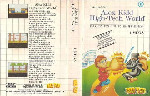 Capa da Tec Toy para o Alex Kidd - High Tech World