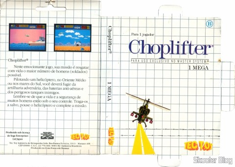 Capa da Tec Toy para o Choplifter - Master System