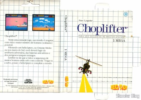 Cover of Tec Toy to Choplifter - Master System